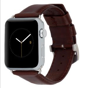 NWT Brown Leather Apple Watch Band 42mm